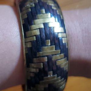 Brass and Wood bangle
